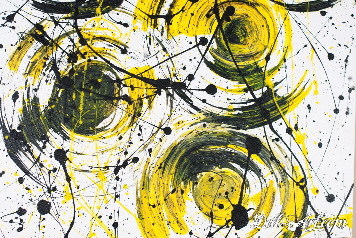 Abstract modern art figurative painting acrylic on for Art and craft drawing and painting